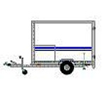Der Anhänger dient zum Transport weiterer Ausstattung