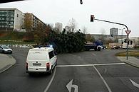 alle Jahre wieder transportiert die Fachgruppe Räumen die Weihnachtsbäume für die Stadt Frankfurt (Oder)