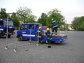 der MLW I als Transportfahrzeug für den EGS Wagen (Maibaum aufstellen 2008)